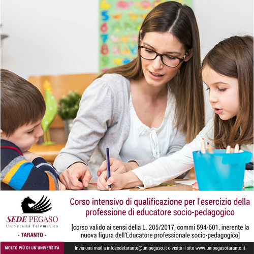 Educatore Professionale socio-pedagogico: corso intensivo di alta formazione