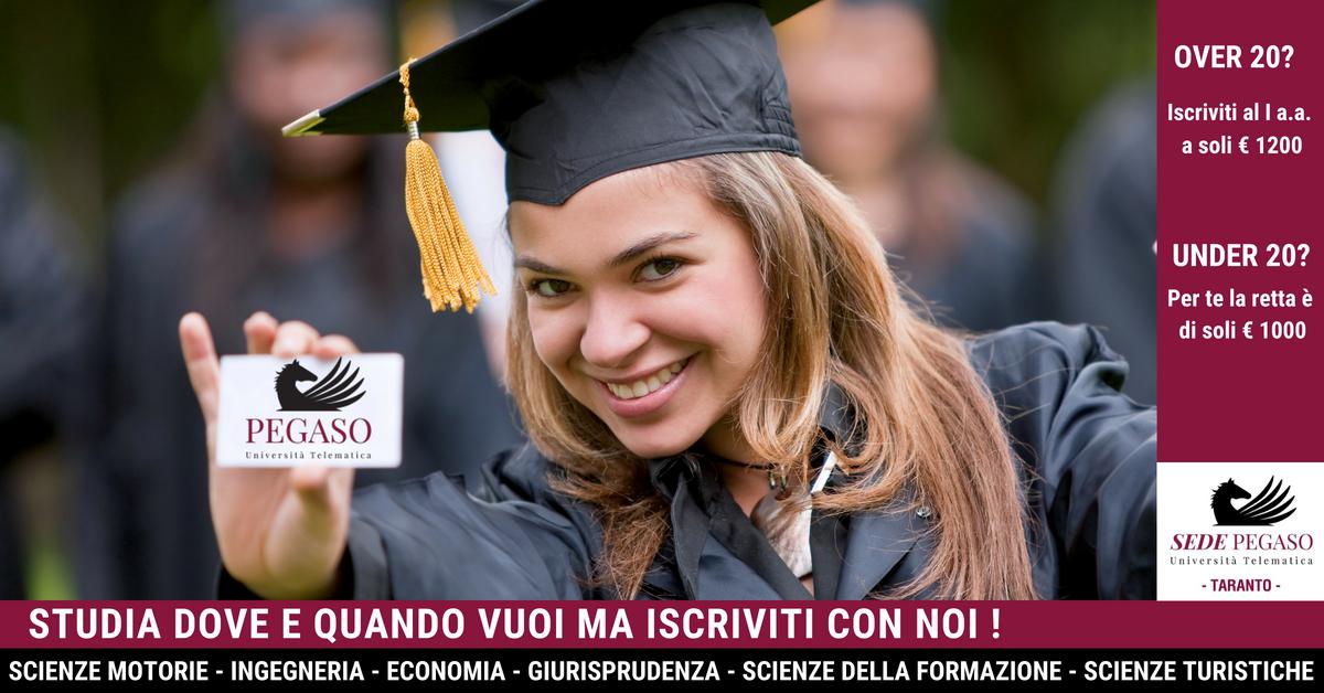 Tasse e costi Pegaso, università telematica online