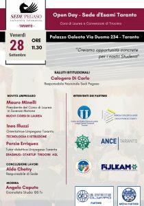 Open Day Unipegaso Taranto
